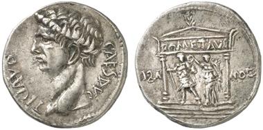Pergamum. Claudius. Cistophor. Rev. Neocoria Temple of Augustus. Künker 226 (2013), 747.