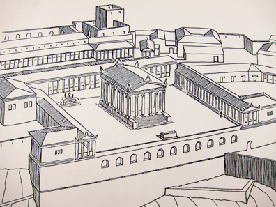 Reconstruction of the Trajan Temple. Photo: KW.