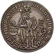 Österreich, Sigismund der Münzreiche, Erzherzog 1477-1490, Guldiner, Silber (31,6 g), Hall, 1486