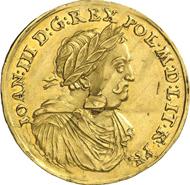 1011: POLAND. John III Sobieski, 1674-1696. 2 ducats n. y., Bromberg. Of utmost scarcity. Extremely fine. Estimate: 50,000 euros.