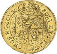 1011: POLEN. Johann III. Sobieski, 1674-1696. 2 Dukaten o. J., Bromberg. Von allergrößter Seltenheit. Vorzüglich. Taxe: 50.000 Euro.