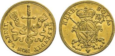 Los 1195: Würzburg, Christoph Franz v. Hutten, 1724-1729. 1/2-Dukat o.J. (1724), Würzburg.