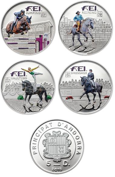 Andorra / 5 Diner / Silber .925 / 20 g / 38,61 mm / Auflage: 2.000 je Münze.
