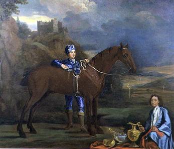 Rennpferd und Jockey von Johann Closterman, um 1690. Quelle: Wikipedia.