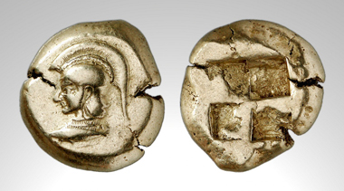 Lot 139: Kyzikos. Stater. Early 5th century, 16.075g. Fritze 67. Insignificant flan cracks, otherwise, extremely fine. Private collection, England, acquired privately. Estimate: 10,000 euros. Starting price: 8,000 euros.