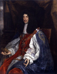 Portrait of Charles II by John Michael Wright (1617-1694). Source: National Portrait Gallery / Wikipedia.