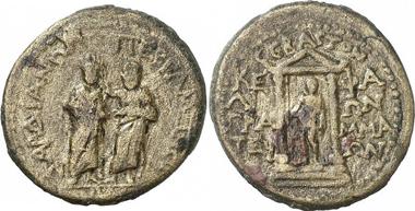 Homonoiaprägung von Pergamon und Sardeis unter Augustus. Gorny & Mosch 191 (2010), 1789.