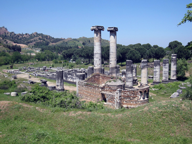 View of the Temple of Artemis from above. Photo: KW.