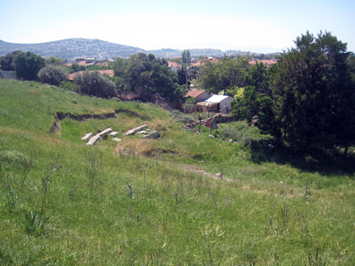 Remains of the Greek theatre. Photo: KW.