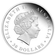 Australia / 30 AUD / 32.131oz .999 silver / 1,001 g / 100.60 m / Design: Tom Vaughan / Mintage: 500.