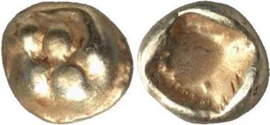 Ephesos, 1/24 Stater. Av: Löwenpranke. Gorny & Mosch 152 (2006), 1399.