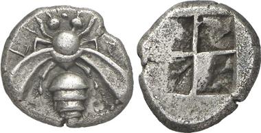 Ephesus, drachm, 450-415. Gorny & Mosch 199 (2011), 425.
