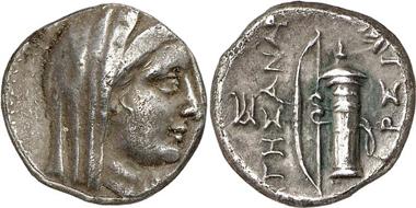 Ephesus as Arsinoeia. Tetrobol. Gorny & Mosch 164 (2008), 197.