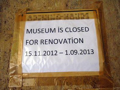 No museum for us, sadly. Photo: KW.
