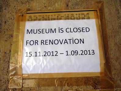 Leider kein Museum für uns. Foto: KW.