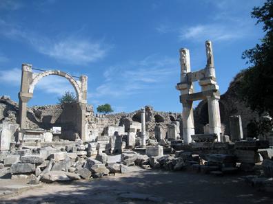 Neocoria Temple of Domitian. Photo: KW.