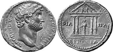 Ephesos. Hadrian, Cistophor. Gorny & Mosch 133 (2004), 317.