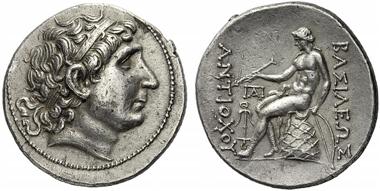 224: Antiochos I Soter, 281-261 (Syria). Tetradrachm, Smyrna, after 269. SC I 310.2. Rare. Extremely fine. Starting price: 1,200 euros. Hammer price: 6,500 euros.