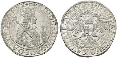 Los 2063. Ferdinand I. (1521-1564). Taler o.J., Hall. vzgl.+. Rufpreis: 400 Euro.