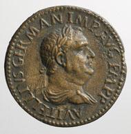Paduaner-Medaille auf den Kaiser Vitellius: Das Stück auf Vitellius ist ein Guss mit gelungener Patinierung.