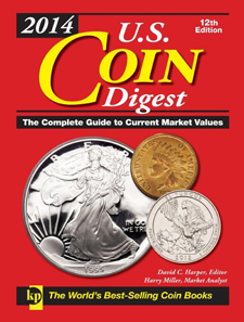 David C. Harper, Harry Miller, U.S. Coin Digest, 12th edition. Krause Publishing, Iola, Wis., 2014. 320 p., 1,700 color illustrations and 200 black & white illustrations, hardcover. ISBN: 9781440235696. $17.99.