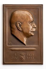 Ludwig Habich (1872-1949), Medaille zum 75. Geburtstag von Graf Zeppelin, Bronze 1913. © Hendrik Zwietasch, Landesmuseum Württemberg, Stuttgart.