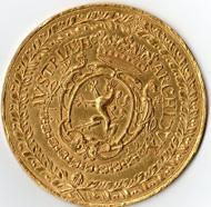 Das Bild zeigt die Vorder- und Rückseite des im Handel aufgetauchten Stückes.