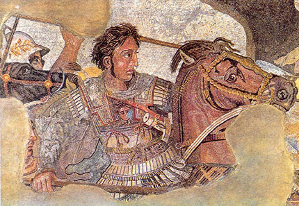Alexander in a battle in the depiction of the so-called Alexander mosaic from Pompeii. Photo: Ruthven / Wikipedia.