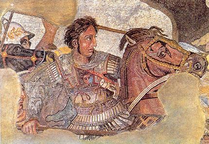 Alexander in einer Schlacht in der Darstellung des sogenannten Alexandermosaiks aus Pompeji. Foto: Ruthven / Wikipedia.