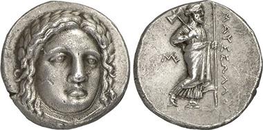 Mausolus, Carian Dynast, 377-353. Tetradrachm. Gorny & Mosch 199 (2011), 472.