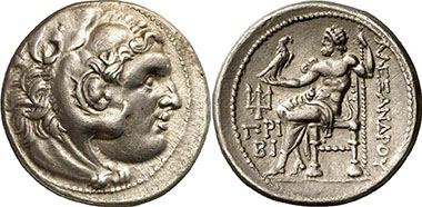 Priene. Tetradrachm 280-275 according to the Alexander type. Gorny & Mosch 170 (2008), 1282.