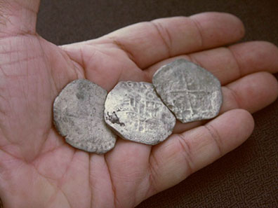Over 1000 silver coins were found at the