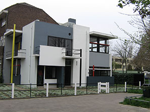 The Schröderhuis in Utrecht, designed by Gerrit Rietveld.