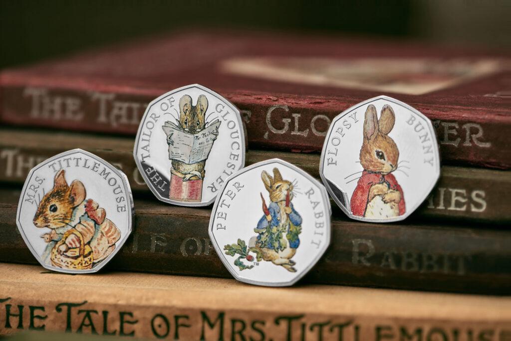 Man kann davon ausgehen, dass auch diese Beatrix-Potter-Münzen aus dem Jahr 2018 Teil der gestohlenen Sammlung waren.