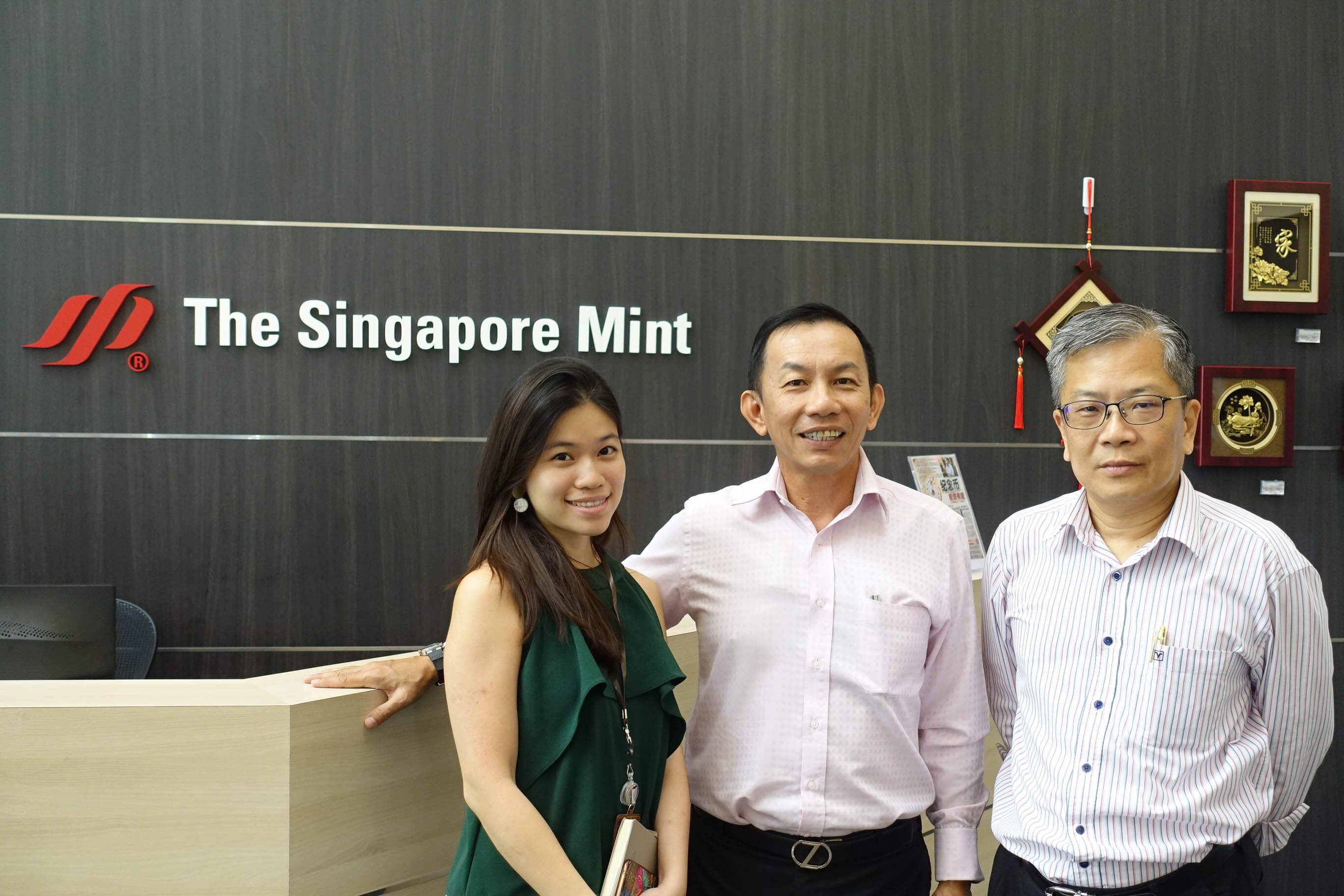 1ac4e06956f Many thanks to The Singapore Mint for the intensive and interesting guided  tour: from left to right Tan Ying Hui (Manager, Program Management), ...